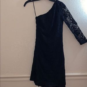Express short black laced dress